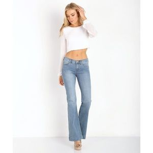 Free People Mid Rise Flare Jeans in Stevie Wash 28